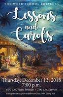 Public invited to Lessons and Carols at Webb