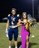 Football team wins homecoming game; Morton, Faour crowned king, queen